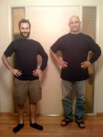 My Dad and I wearing the shirt
